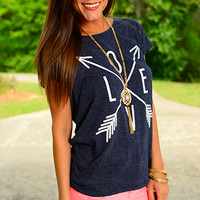 Love Marks The Spot Top, Navy