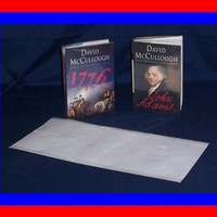 "25 - 9 1/2"" x 20"" Brodart Archival Fold-On Book Jacket Covers -- Center-loading, Clear, Mylar, Adjustable"