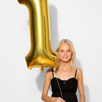 Gold Number Party Balloon - Urban Outfitters