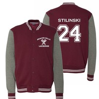 Adult Teen Wolf Beacon Hills Stilinski Sweatshirt Jacket (Large, Maroon)