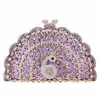 Fawziya Peacock Evening Bag Glitter Cute Animal Clutch Bags For Women Purses And Clutches Purple: Amazon.ca: Shoes & Handbags