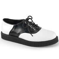 Demonia Black and White Oxford Creepers