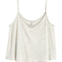 Short Jersey Tank Top - from H&M