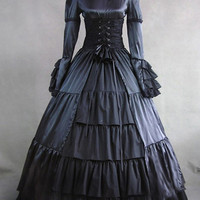 Lolita of Vitoria during the Gothic Palace Dress collar dress cos Prom Dresses