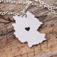 I heart Germany Necklace Germany Pendant Germany by aimeestore