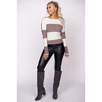 Modern Gal Long Sleeve Striped Top (Plum)