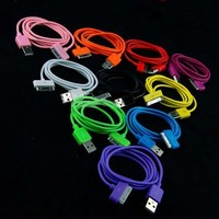 Bluecell 3-Feet USB Sync Data Cable for iPhone 4/4S/3G/iPod with Free Bluecell Cable Tie - 7 Pack -