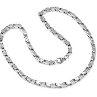 Mens Stainless Steel Chain Link Necklace 24 inch