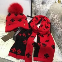 red cap scarf
