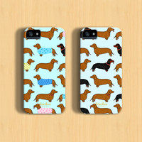Dachshund iPhone Case For - iPhone 6 Plus Case - iPhone 6 Case - iPhone 5C Case - iPhone 5 Case - iPhone 4 Case - Samsung Galaxy S5 Case