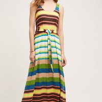 Plenty by Tracy Reese Spectrum Stripe Maxi Dress in Blue Motif Size: