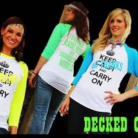 """""""KCCO-NO THANKS"""" TEE- green or blue"""