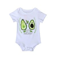Newborn Baby Boys Girls Fruit Letter Print Romper Jumpsuit Outfit Clothes 4-24M For Gift