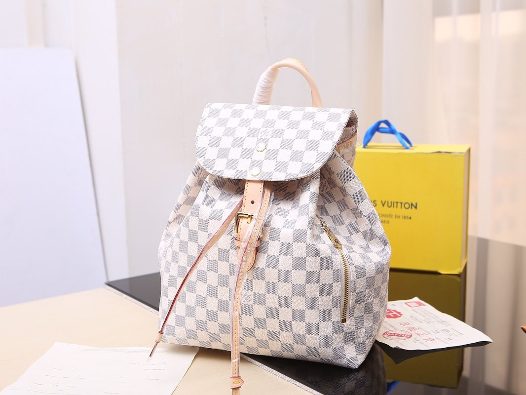 Image of LV Louis Vuitton WOMEN'S DAMIER CANVAS Sperone BACKPACK BAG