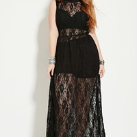 Plus Size Lace Maxi Dress | FOREVER 21 - 2000186029