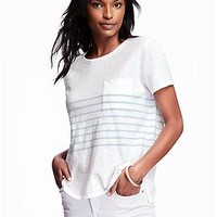 Boyfriend Pocket Tee for Women
