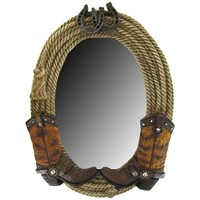 "17"" Double Boot & Rope Mirror 