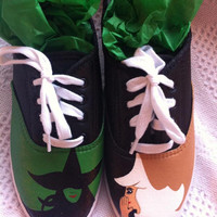 Hand painted Wicked-The Musical canvas shoes (sneakers)