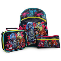 Monster High Backpack, Lunch and Pencil Case Set