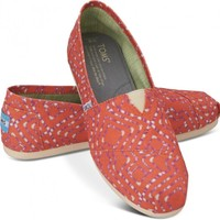 Coral Geometric Tie-Dyed Women's Classics