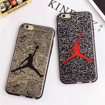 SuperNBA Super Star Air Jordan Soft Cases for iPhone 7 6 6S 4.7 / Plus 5.5 inch TPU soft Mobile Accessories Covers Fundas Movil