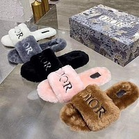 Dior's New Fall / Winter Tow Wool Slippers Shoes