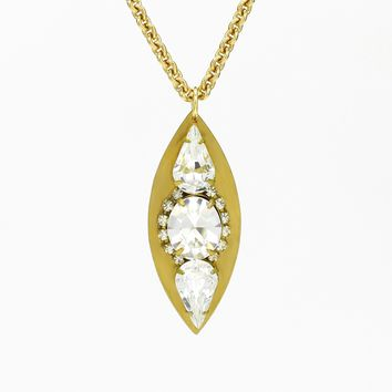 Vintage Crystal Marquise Necklace