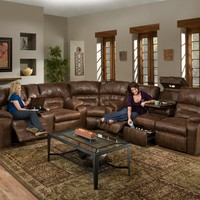 596 - The Dakota Franklin Reclining Sectional - Brown