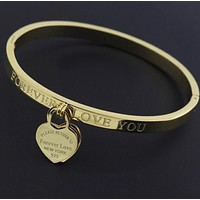 Classic Stainless Steel Gold Bracelets & Bangles