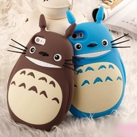 3D Cute Cartoon 5S Case Totoro Cat Soft Silicon Back Cover Phone Cases For Apple iphone 5s 5 SE 6 6s 6 plus 6sPlus Lovely Coque