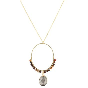 Wrapped Beaded Necklace- Carn