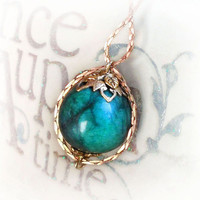 Emerald necklace - the birthstone of May