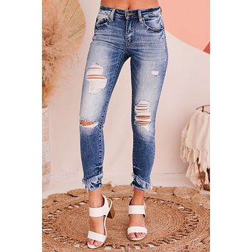 Best Results Kancan Distressed Skinny Jeans (Medium)