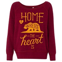 Home is here the Heart is Wide Neck Sweater