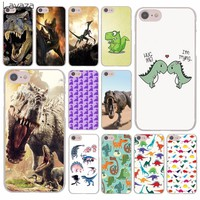 Lavaza cartoon Dinosaur Open Mouth Hard Cover Case for Apple iPhone 8 7 6 6S Plus 5 5S SE 5C 4 4S X 10 Coque Shell