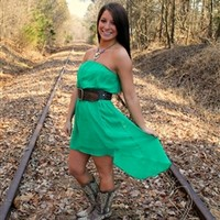 Out On The Town Dress - Green