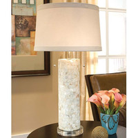 Regina Andrew Mother of Pearl Column Lamp on Lucite Base - 505-131