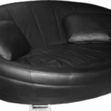Scandinavia Furniture Metairie New Orleans Louisiana offers Contemporary & Modern Furniture for your Living Room - CELLINI - UFO BLACK ROUND LOUNGE CHAIR/SOFA - ScandinaviaFurniture.com
