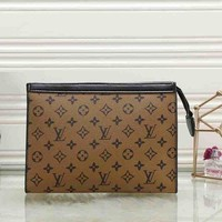 Louis Vuitton LV Women Men Shopping Bag Leather Satchel Tote Zipper Bag