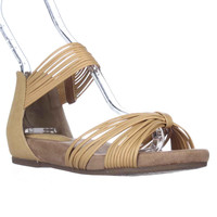 GB35 Jhene Strappy Flat Ankle Strap Sadndalss, Orche, 5.5 US