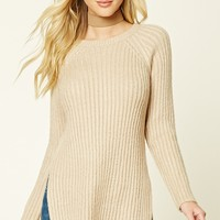 Longline Side-Slit Sweater