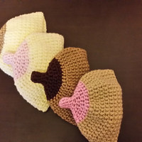 Free Shipping Crochet Breastfeeding beanie/ Boob hat for baby/ Baby Shower Gift Made to order