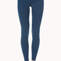FOREVER 21 High-Waisted Jeggings Teal X-Small