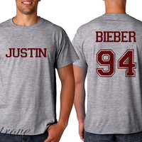 HOT Justin Bieber Shirt Bieber 94 Date of Birth Tshirt Unisex Size - RT139