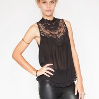 Lace chiffon top - Shop the latest Fashion Trends