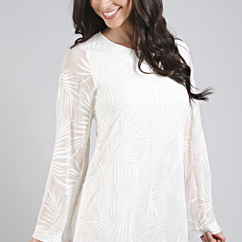 show me your mumu: knockout dress - leafy luxe white