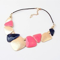 Shiny Gift Jewelry New Arrival Stylish Geometric Pattern Summer Necklace [6586258503]