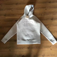 """""""The North Face"""" Fashion Cotton Embossing Hooded Top Pullover Sweater"""