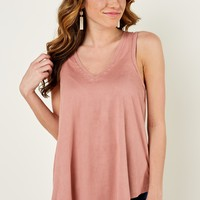 Z Supply Suede Swing Tank in Rose Blossom
