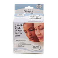 Godefroy Instant Eyebrow Tint Permanent Eyebrow Color Kit, Dark Brown-1 kit